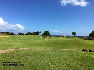 Wide fairway at the Kiahuna Golf Club