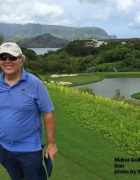 Dan on the Makai Golf Course on Kauai.