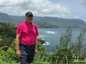 Wayne on the Makai Golf Course on Kauai.