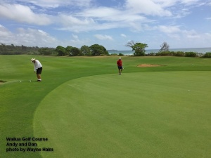The first green at the Wailua Golf Course on Kauai.