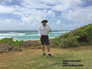 Andy on the Wailua Golf Course on Kauai