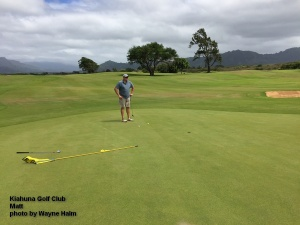 Matt on the Kiahuna Golf Club on Kauai