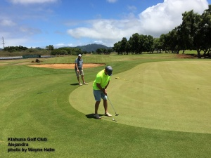 Matt and Alejandra on the Kiahuna Golf Club on Kauai
