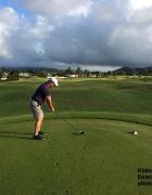 Dean on the 1st tee at the Kiahuna Golf Club on Kauai.