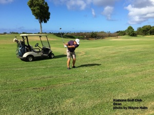 Dean on the Kiahuna Golf Club on Kauai.