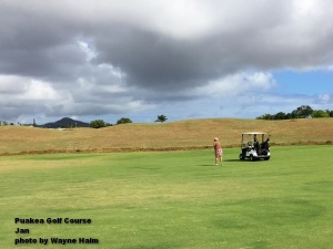 Jan on the Puakea Golf Course on Kauai.