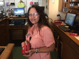 Priscilla keeping golfers supplied