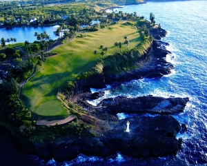 Aerial view of the hole
