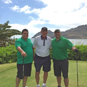 Laine, Wayne, and Dax – Birdies and ocean views … what more could a guy want?