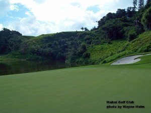 The third green on he Makai Golf Club on Kauai.