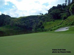 The third green on he Makai Golf Club on Kauai.