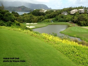 The third hole on the Makai Golf Club on Kauai.