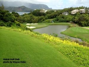 The third hole on the Makai Golf Club on Kauai.