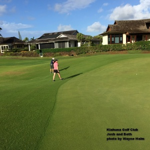 Josh and Beth on the Kiahuna Golf Club on Kauai.