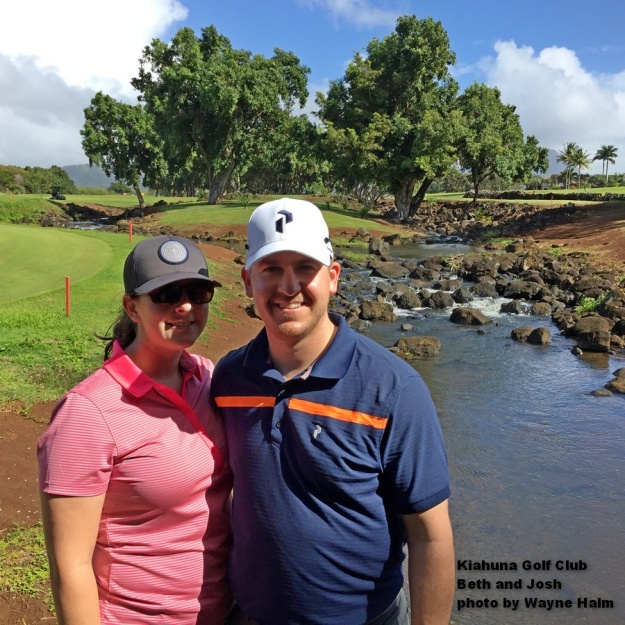 Beth and Josh on the Kiahuna Golf Club on Kauai