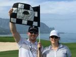 Josh and Beth at the Makai Golf Club on Kauai.