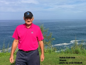 Wayne on the Makai Golf Club on Kauai.