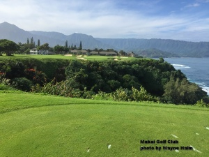 The 7th hole at the Makai Golf Club on Kauai.