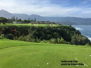 The 7th hole at the Makai Golf Club on Kauai.
