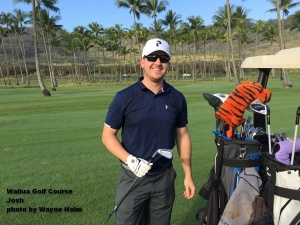 Josh on the Wailua Golf Course on Kauai.