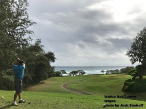 Wayne on the Wailua Golf Course on Kauai.