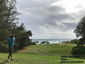 Wayne on the Wailua Golf Course on Kauai.