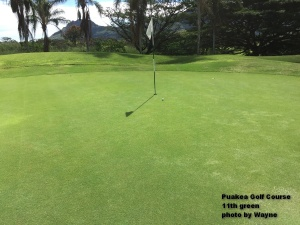 But not me … not this day. This is my birdie putt – and yes, I made it.