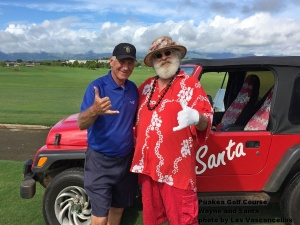 Yes, I do play golf with Santa Claus … and yes, he does ask my opinion about who has been naughty and nice.