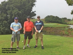 Zack, Wayne, and Kevin on the 13th tee.