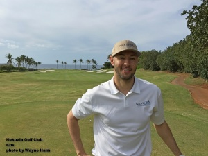 Kris at the Hokuala Golf Club on Kauai