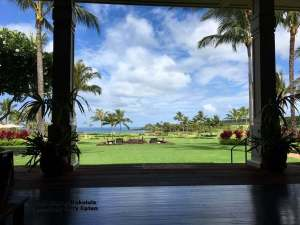 – The view from the clubhouse at The Club at Kukuiula on Kauai.