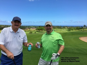 – Morrie and Terry on the Club at Kukuiula on Kauai.